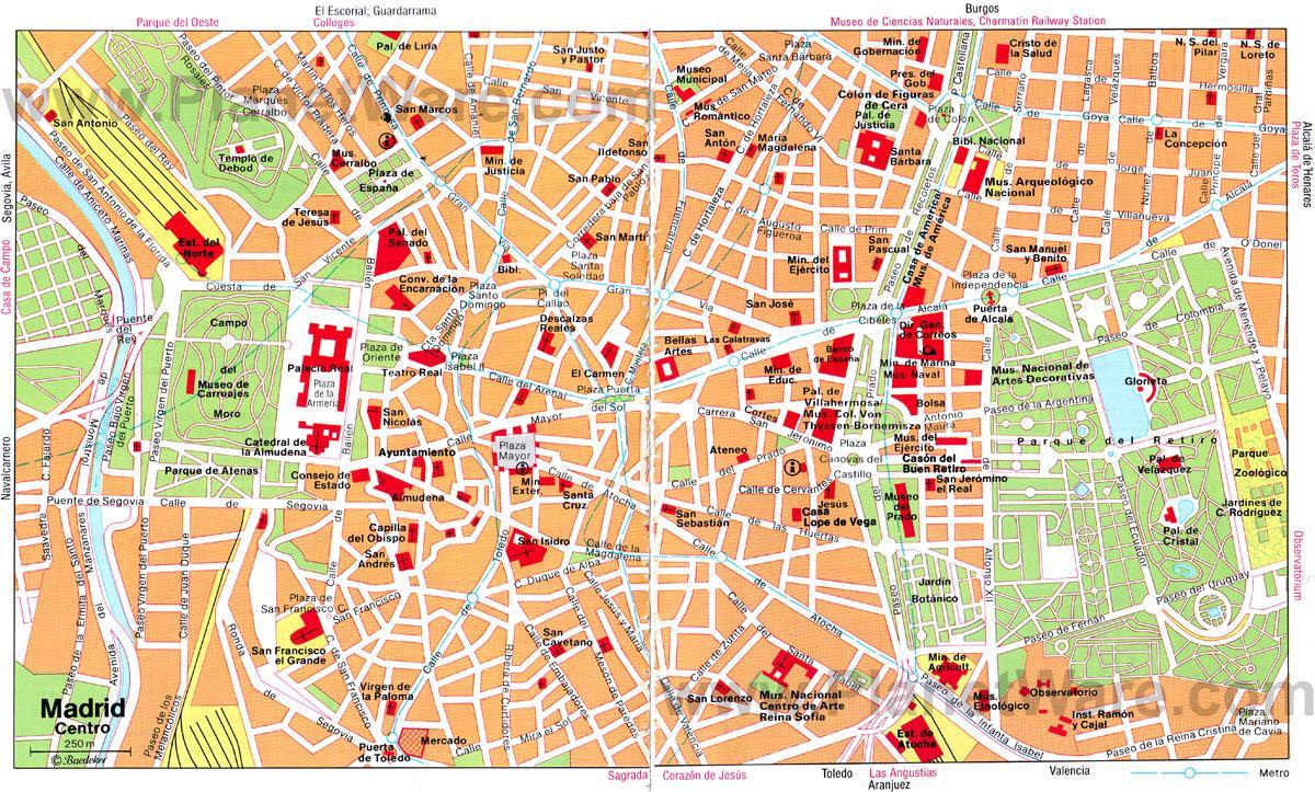 Mapa De Madrid Centro.Mapa De Calle En El Centro De Madrid Madrid Centro Ciudad