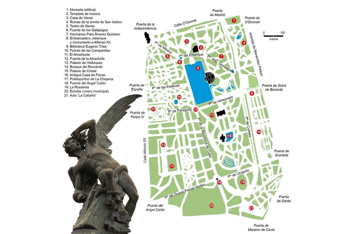 Mapa Parque Del Retiro.Retiro Mapa Parque De El Retiro Mapa Espana