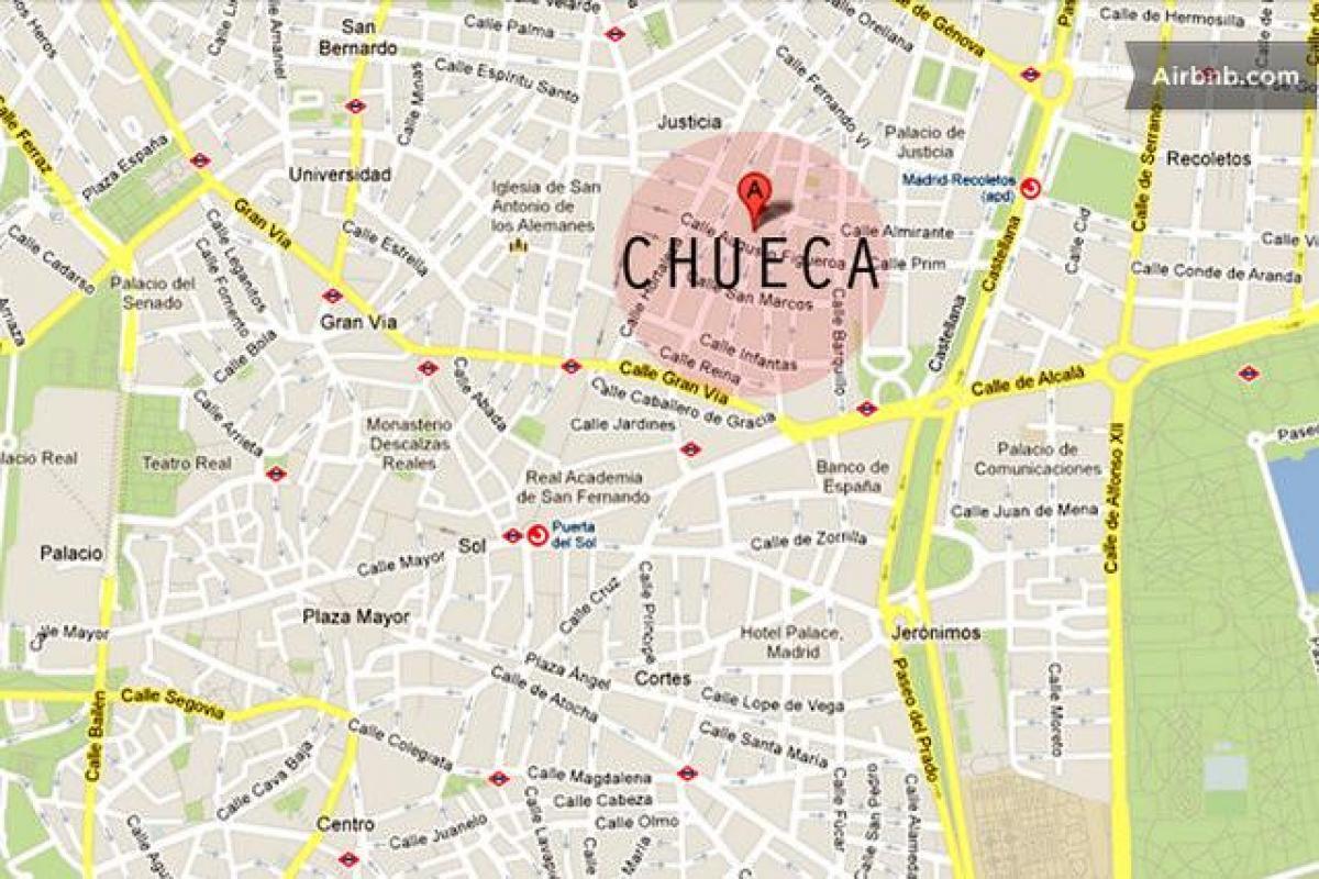 Barrio Chueca Madrid Mapa.El Barrio De Chueca De Madrid Mapa Madrid Chueca Mapa