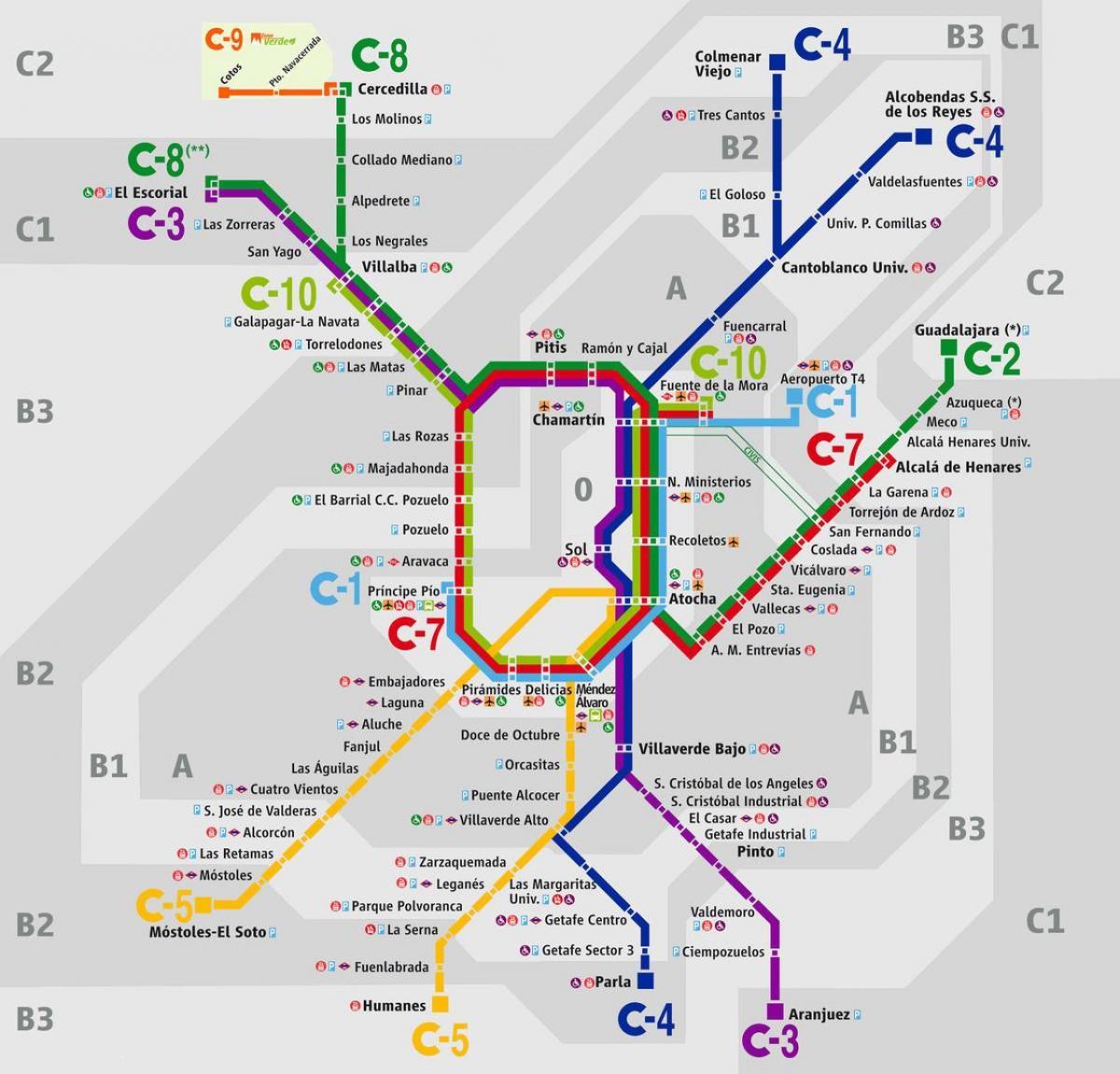 Estacion De Atocha Mapa.Madrid Estacion De Ferrocarril De Atocha Mapa Mapa De