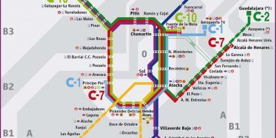 Mapa De Tren Madrid.Mapa De Madrid Mapas De Madrid Espana