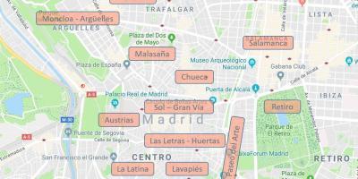 Barrio Chueca Madrid Mapa.Mapa De Madrid Mapas De Madrid Espana